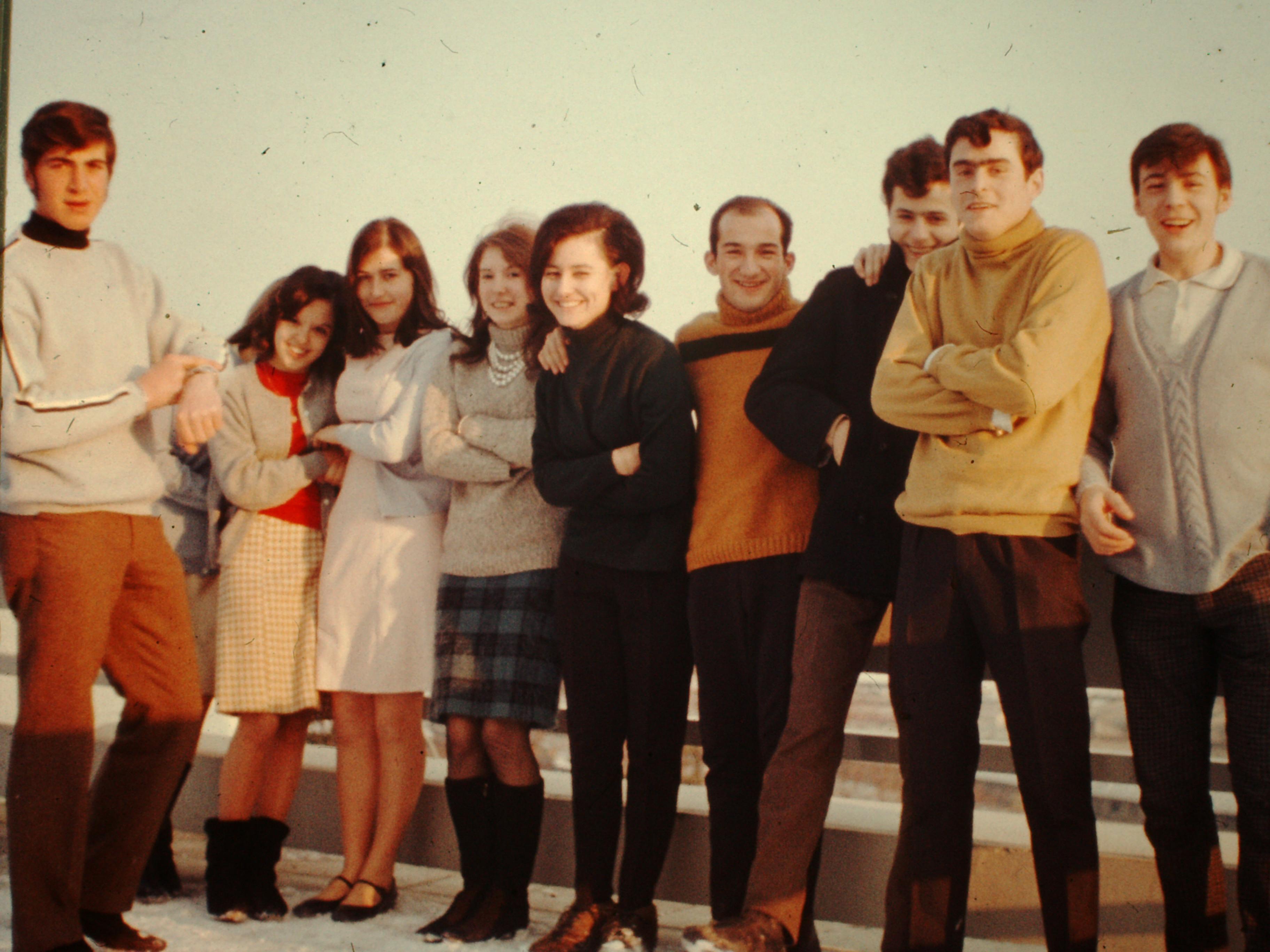 Groupe sur la terrasse de la MJC - 1967